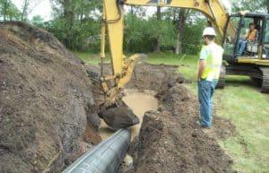 Winona Mechanical underground utilities